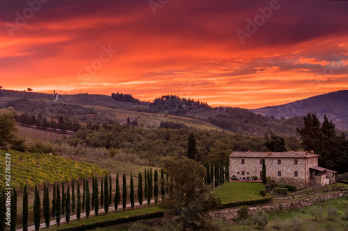 Fiery Sunrise, Tuscany