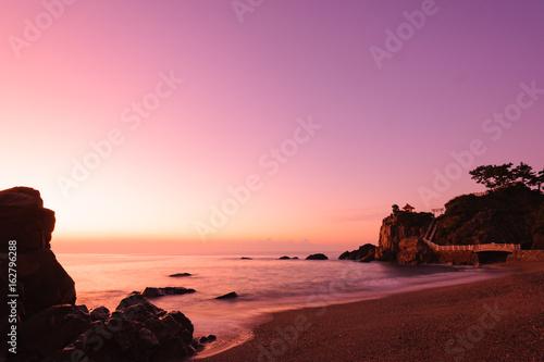 早朝の桂浜