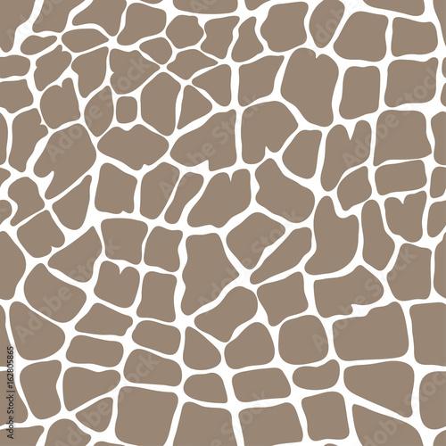 vector seamless brown pattern of giraffe - 162805865