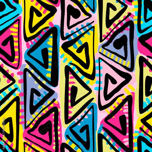 Cotton fabric Seamless tribal boho pattern.