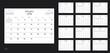 Vector design template of calendar planner for 2018 year.