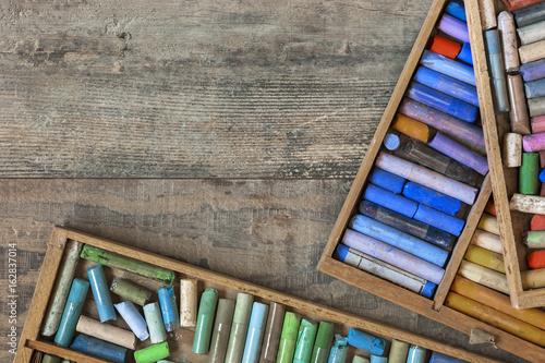 Kolorowe pastelowe kredki