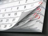Concept of calendar, reminder, organizing - 3d illustration of calendar - 162849098
