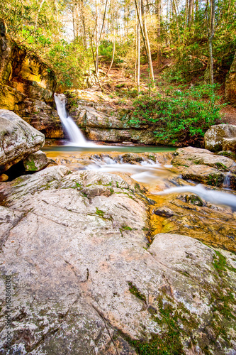 Waterfall in the middle of a forest in Tennessee