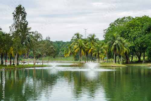Permaisuri Lake Garden is one of the famous park in Cheras, there is a pathway for people to jogging and exercise and it just along the lake Poster