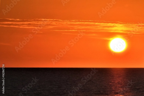 Papiers peints Orange eclat Orange Sky Sunset, Johns Pass Florida..USA