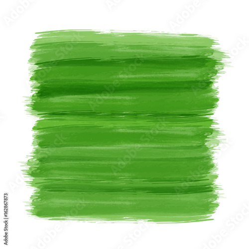 Green brush paint background for ecology and environmental friendly concept - 162867873