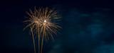 Fototapety Orange Fireworks Blue Background