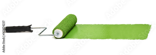 Roller with Green paint