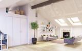 Attic floor design - 162877888
