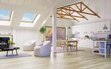 Attic floor design - 162877896