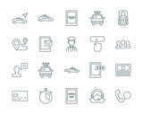 Fototapety Taxi service set of vector icons