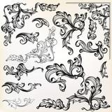 Calligraphic vector vintage design elements and swirls - 162881676