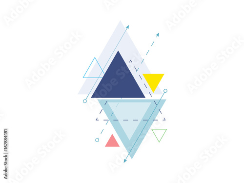 minimal geometric triangle design background vector