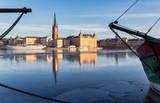 Stockholm, Riddarholmen in winter. - 162885667