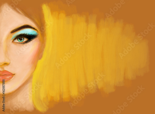 Make up. fashion illustration
