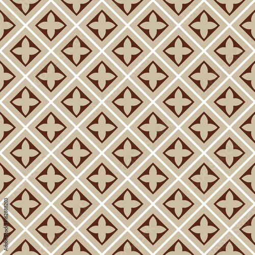 seamless illustration, brown, beige tile pattern