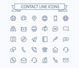 Contact line mini icons. 24x24 grid. Pixel Perfect. - 162889033