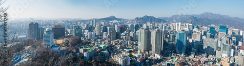 Staande foto Seoel Panoramic view of Seoul, capital city of South Korea