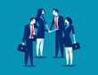 Business team with their hand together. Concept business vector illustration.