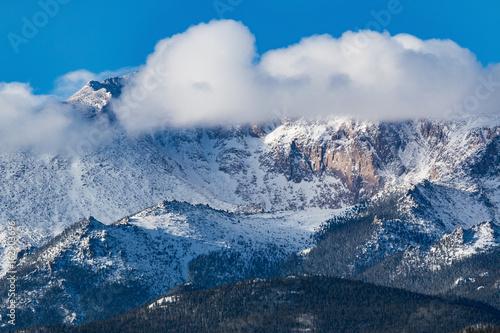 Fresh Snow on Pikes Peak Colorado