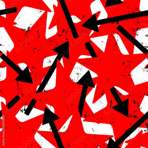 seamless abstract background pattern, with stars and arrows, strokes and splashes