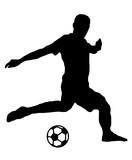 Fußballer mit Ball - 162912837