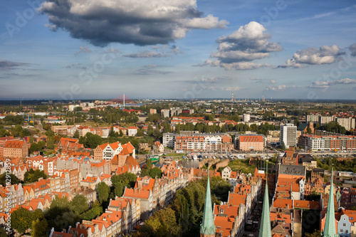 City Of Gdansk Aerial Cityscape, Poland