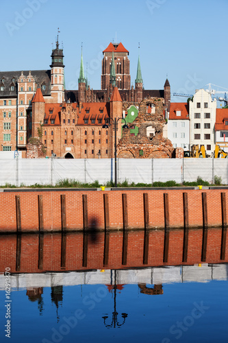 Old Town Of Gdansk River View in Poland