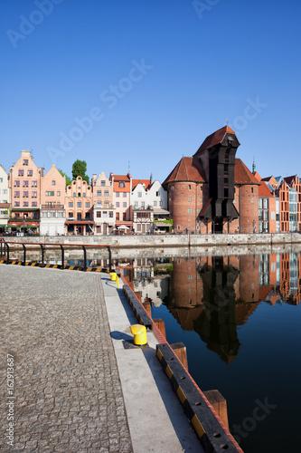 City of Gdansk Cityscape in Poland