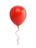 3D Rendering red Balloon Isolated on white Background - 162915656