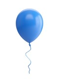 Fototapety 3D Rendering blue Balloon Isolated on white Background