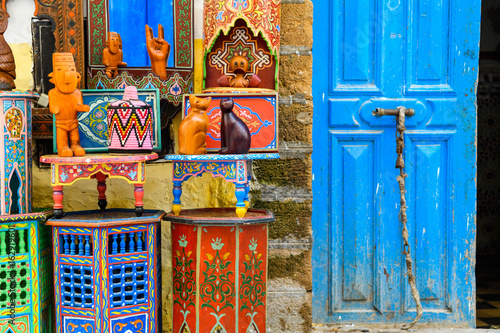 Fotobehang Marokko colorful crafts at moroccan market