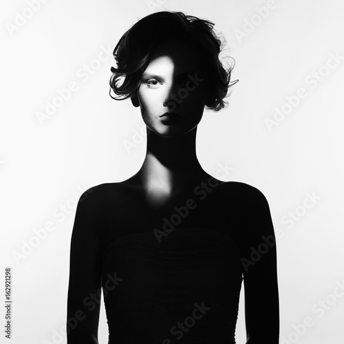 Foto op Aluminium womenART Surrealistic portrait of young lady