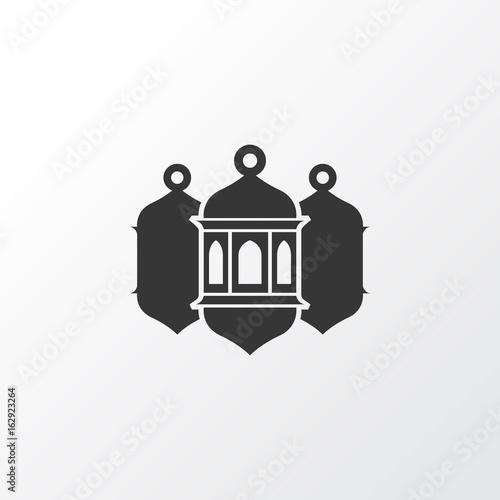Worship Icon Symbol. Premium Quality Isolated Mosque Lantern Element In Trendy Style.