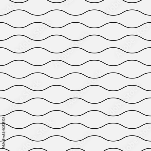 Wavy seamless pattern. Simple background for your design. - 162929805