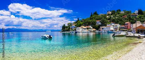 Greek holidays - tranquil village Loggos in gorgeous Paxos island