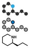 Coniine herbal toxin molecule. Present in poison hemlock (Conium maculatum). - 162947434