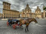 Calesse w Piazza Venezia - Rzym