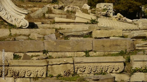 Poster Egypte china beijing yuanmingyuan,history legacy wreckage,royal garden pillars.