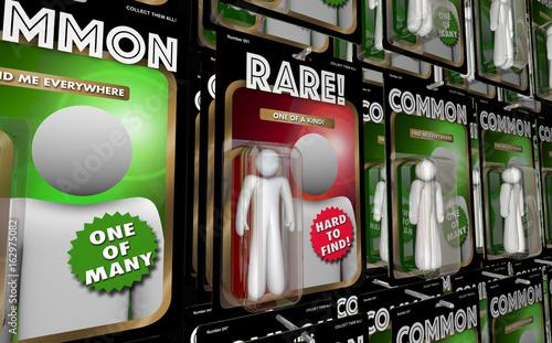 Rare Vs Common Action Figures Unique 3d Illustration