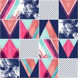 Abstract square seamless pattern. - 162984043