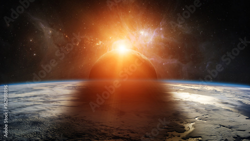 Foto Murales Eclipse of the sun on the planet Earth 3D rendering elements of this image furnished by NASA