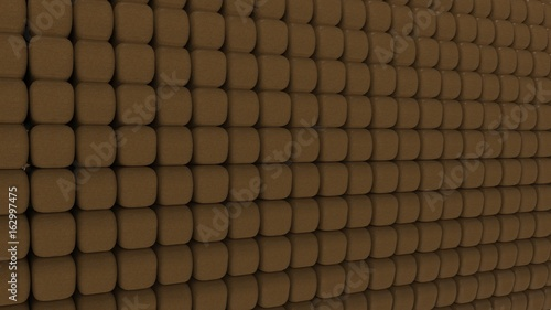 3d rendering of geometic, seamless, simple pattern of cube shapes