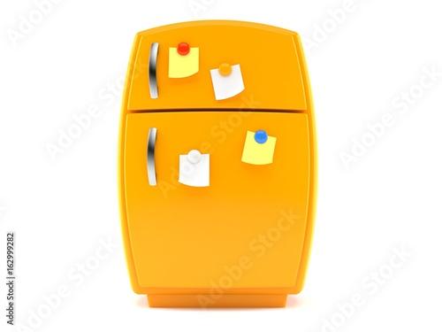 Orange fridge