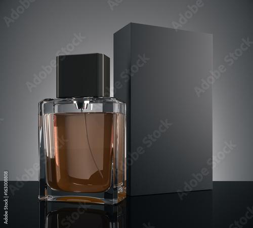 Male perfume ad concept