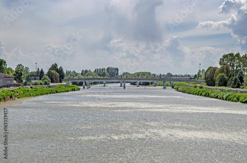 Ponte Tiziano e Tanaro Alessandria
