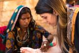 Indian gypsy girl, Jaisalmer, India - 163040080