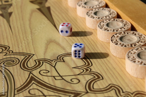 Backgammon is another ancient game, which is great develops logical thinking skills плакат