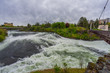 Spokane Falls - waterfall and dam on the Spokane River, located in the central business district in downtown Spokane, Washington, United States